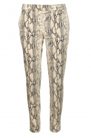Set |  Snake print pants Chey | beige  | Picture 1