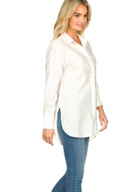 Second Female | Linnen blouse Lune | wit  | Afbeelding 5