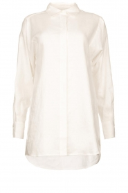 Second Female | Linnen blouse Lune | wit  | Afbeelding 1