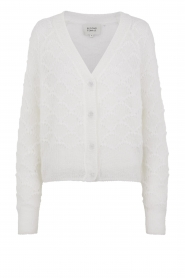 Second Female |  Buttoned cardigan Palm | white  | Picture 1