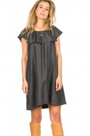 Second Female |  Lyocell dress Lilla | black  | Picture 4