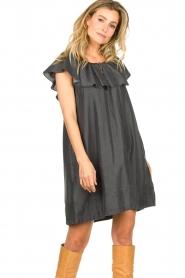 Second Female |  Lyocell dress Lilla | black  | Picture 2