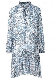 Second Female |  Dress with print Clouds | blue  | Picture 1