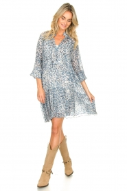 Second Female |  Dress with print Clouds | blue  | Picture 3