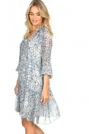 Second Female |  Dress with print Clouds | blue  | Picture 5