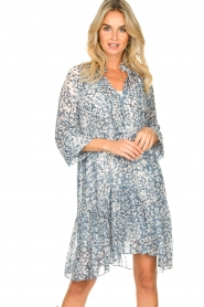 Second Female |  Dress with print Clouds | blue  | Picture 2