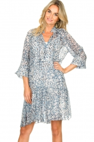 Second Female |  Dress with print Clouds | blue  | Picture 4