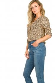 Second Female |  Print blouse Eli | brown  | Picture 5