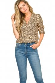 Second Female |  Print blouse Eli | brown  | Picture 2