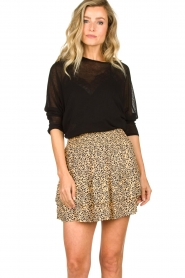 Second Female |  Print skirt Eli | brown  | Picture 2