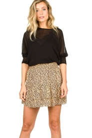 Second Female |  Print skirt Eli | brown  | Picture 5