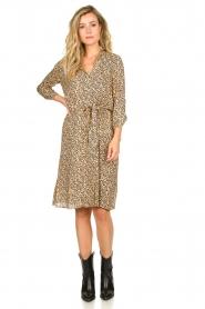 Second Female |  Midi print dress Eli | brown  | Picture 3