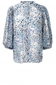 Second Female |  Print blouse Clouds | blue  | Picture 1