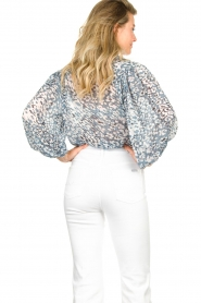 Second Female :  Print blouse Clouds | blue - img6