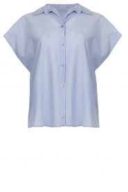 Second Female |  Cotton blouse Auso | blue  | Picture 1