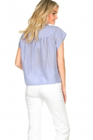 Second Female |  Cotton blouse Auso | blue  | Picture 6