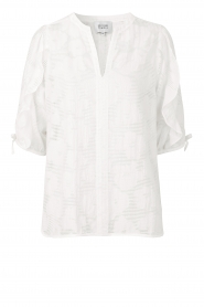 Second Female |  Floral pattern blouse Mila | white  | Picture 1