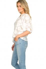 Second Female |  Floral pattern blouse Mila | white  | Picture 5
