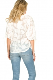 Second Female |  Floral pattern blouse Mila | white  | Picture 6