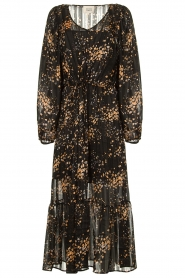 Second Female |  Dress with print Snora | black  | Picture 1