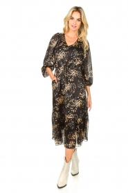 Second Female |  Dress with print Snora | black  | Picture 4