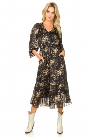 Second Female |  Dress with print Snora | black  | Picture 2