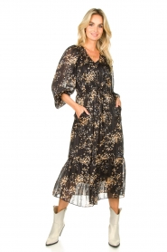 Second Female |  Dress with print Snora | black  | Picture 3