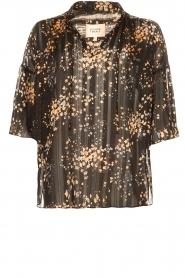 Second Female |  Print blouse Snora | black  | Picture 1