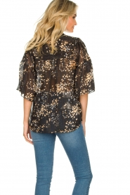 Second Female |  Print blouse Snora | black  | Picture 7