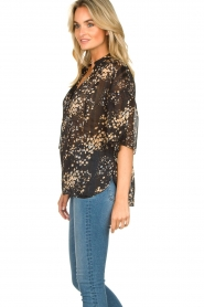 Second Female |  Print blouse Snora | black  | Picture 6