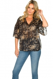 Second Female |  Print blouse Snora | black  | Picture 5