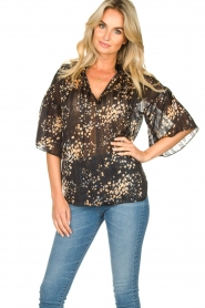 Second Female |  Print blouse Snora | black  | Picture 4