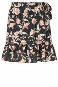 Second Female |  Floral wrap skirt Neo | black  | Picture 1