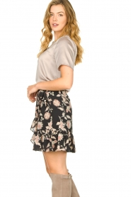 Second Female |  Floral wrap skirt Neo | black  | Picture 4
