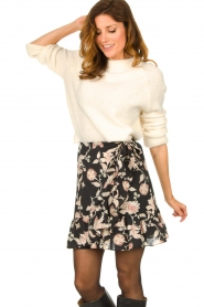 Second Female |  Floral wrap skirt Neo | black  | Picture 5