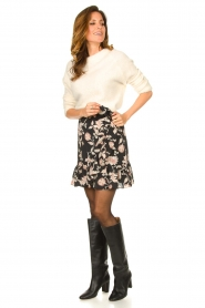 Second Female |  Floral wrap skirt Neo | black  | Picture 3