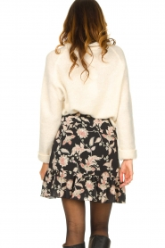 Second Female |  Floral wrap skirt Neo | black  | Picture 6