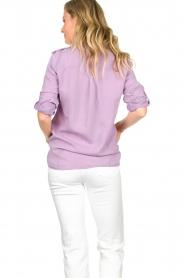 Set | Button down blouse Jill | purple  | Picture 7
