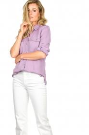 Set | Button down blouse Jill | purple  | Picture 5