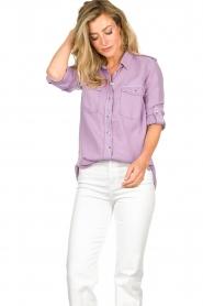 Set | Button down blouse Jill | purple  | Picture 4