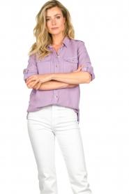 Set | Button down blouse Jill | purple  | Picture 2