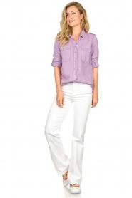 Set | Button down blouse Jill | purple  | Picture 3