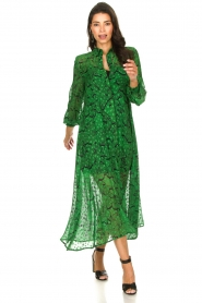 Silvian Heach |  Printed maxi dress Sanquin | green  | Picture 2