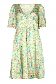Notes Du Nord |  Silk floral dress Odeon | green  | Picture 1