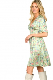 Notes Du Nord |  Silk floral dress Odeon | green  | Picture 6