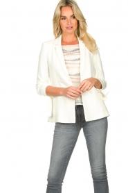 Fracomina |  Double-breasted blazer Jana | white  | Picture 2