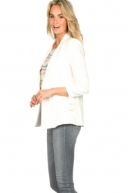 Fracomina |  Double-breasted blazer Jana | white  | Picture 4