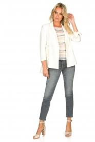 Fracomina |  Double-breasted blazer Jana | white  | Picture 3