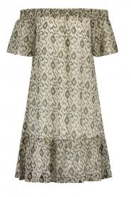 Aaiko    Off-shoulder print dress Aleiza   natural    Picture 1