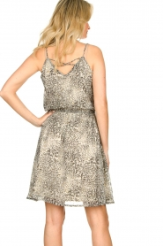 Aaiko |  Print dress Bryson | black & white  | Picture 6